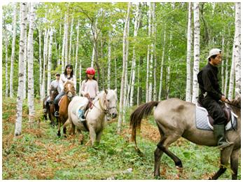 ムツ牧場で乗馬